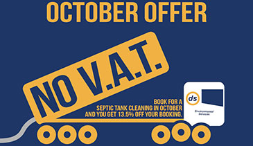 October septic tank offer