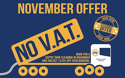 November Offer - Pay No VAT For Septic Tank Cleaning